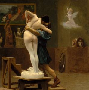 Easy there, buddy! The artist, Pygmalion, as captured by fellow studio artist, Jean-Léon Gérôme.