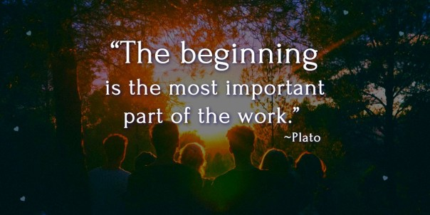 The beginning by plato
